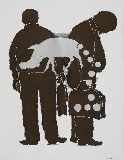 "Sumedh Rajendran   Untitled   Collage   59.5"" x 47.5""   2008"