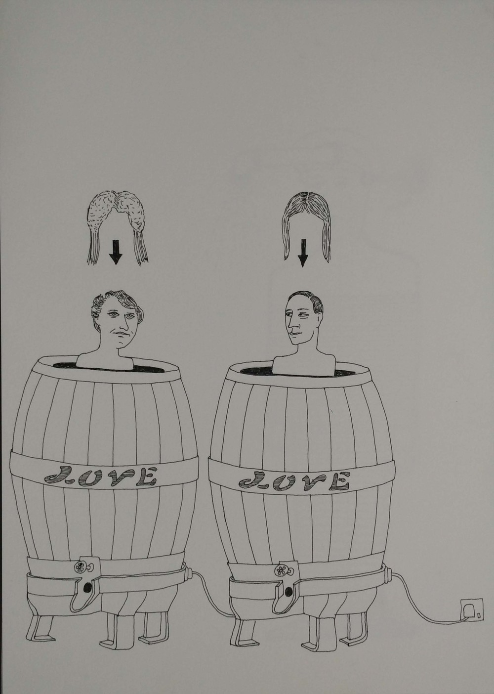 "Paul Barritt | Ten Leisure Machines  | Drawing on paper | 11.75"" x 8.25"" 