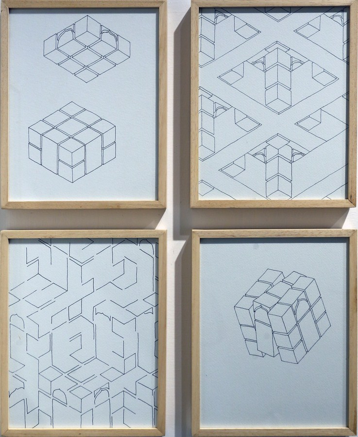 "Untitled | Archival ink, drawings on paper | 10"" x 8"" (Each) 