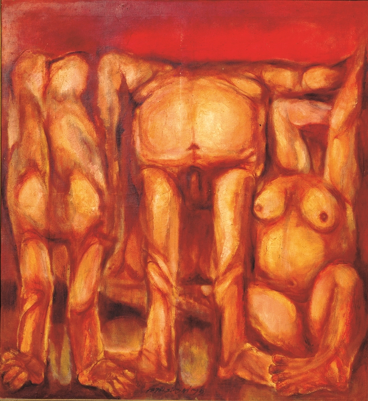 "En Masse | Oil on canvas | 54"" x 48"" 