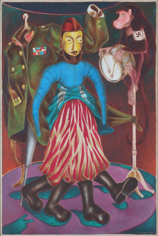 "Great March (Puppet Theatre Series) | Oil on canvas | 66"" x 54"" 