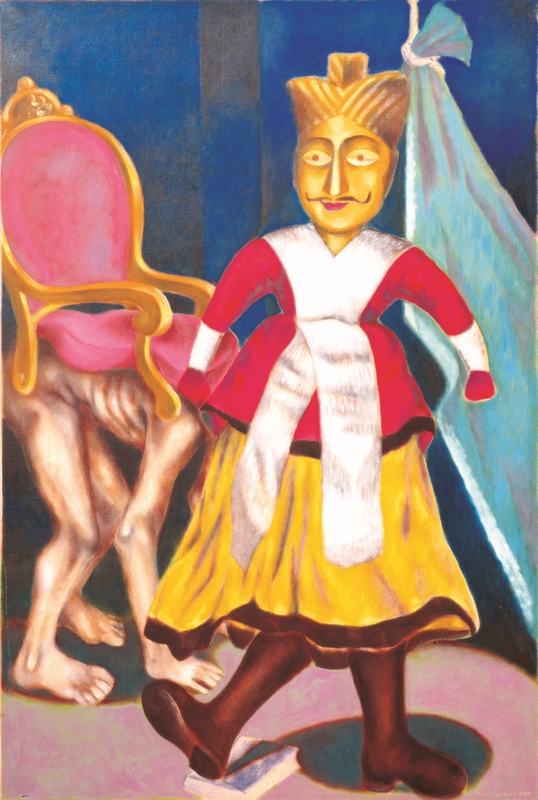 "The King (Puppet Theatre Series) | Oil on Canvas | 78"" x 48"" 