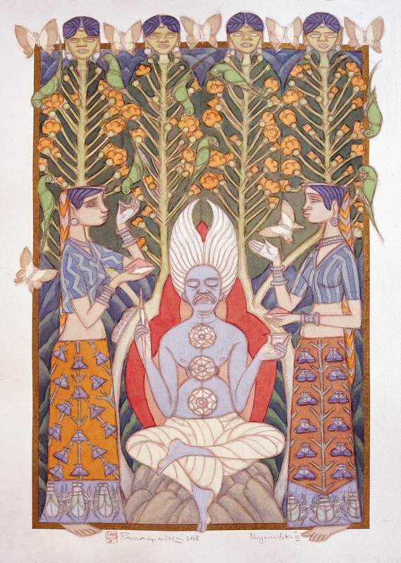 "Dhyana Chitra ‐ III | Watercolour on paper | 29"" x 21"" 