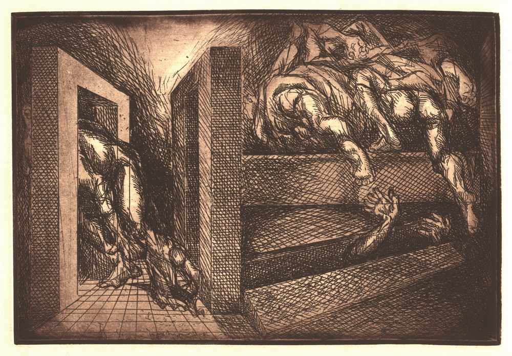 "Resurrection with Robbers | Etching | 11"" x 15"" 