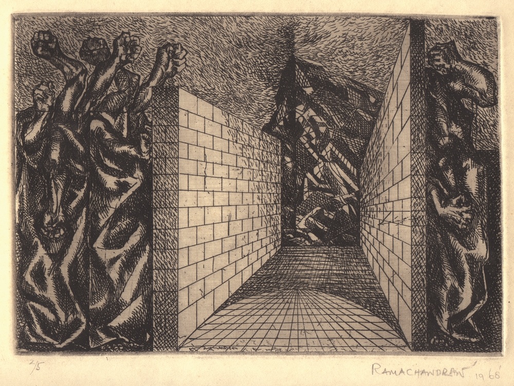 "Garden of Gethsemane | Etching | 11"" x 15"" 