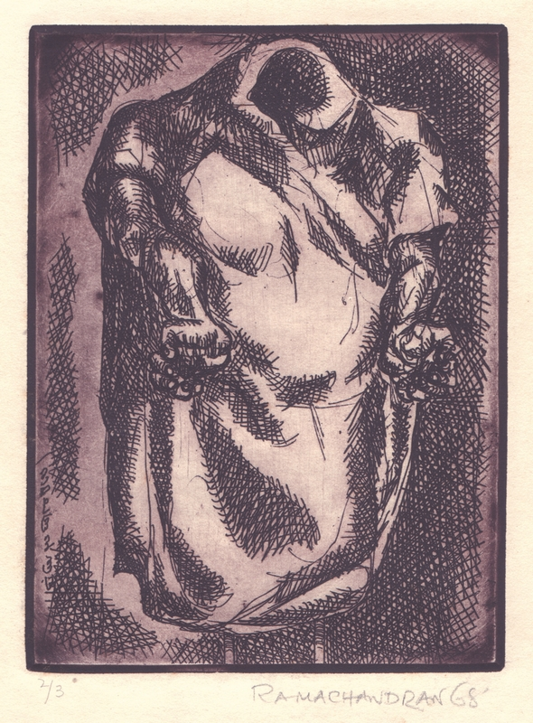 "Crucifixion | Etching | 11"" x 5.5"" 