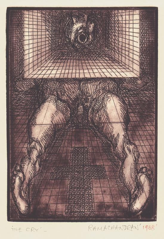 "The Cry | Etching | 11.5"" x 7.5"" 