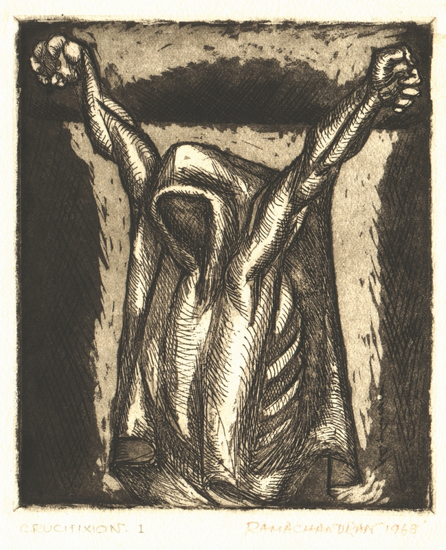 "Crucifixion | Etching | 11.5"" x 7.5"" 