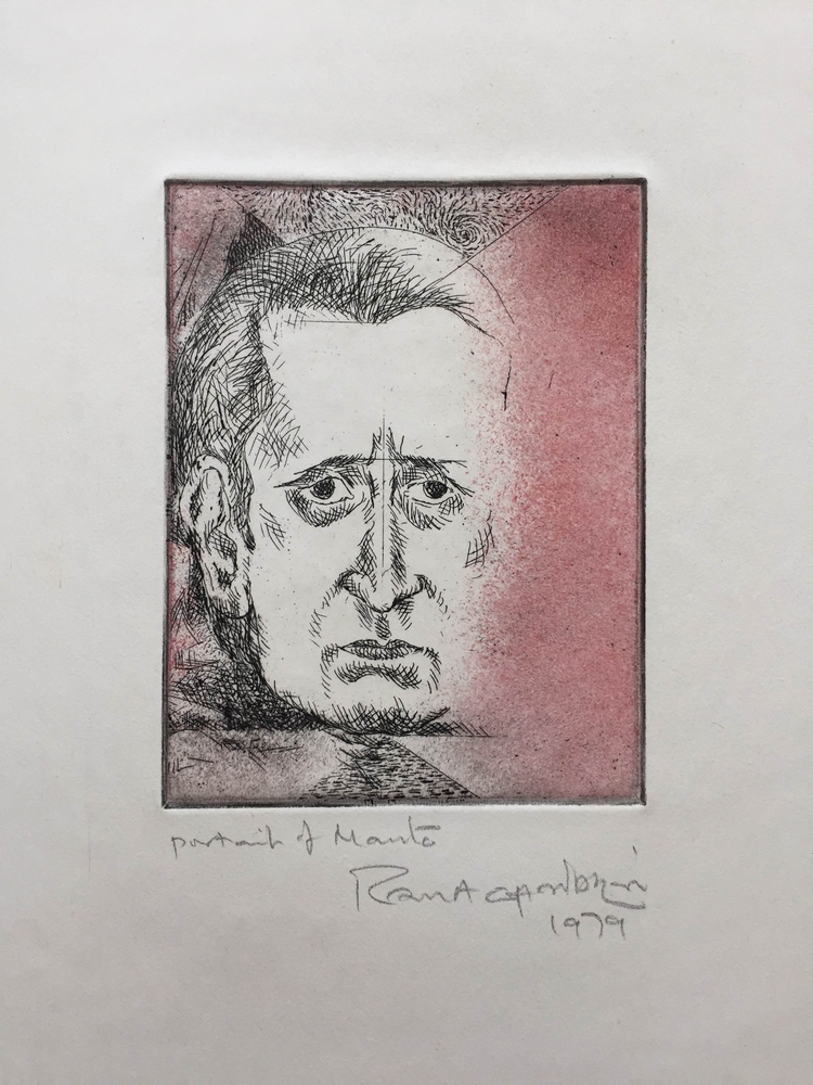 "Potrait of Manto |  Etching | 8"" x 5"" 