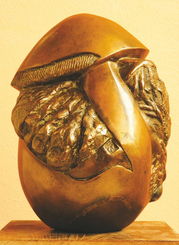 "Embryonic Form II | Bronze | 10"" x 7.5"" x 7.5"" 