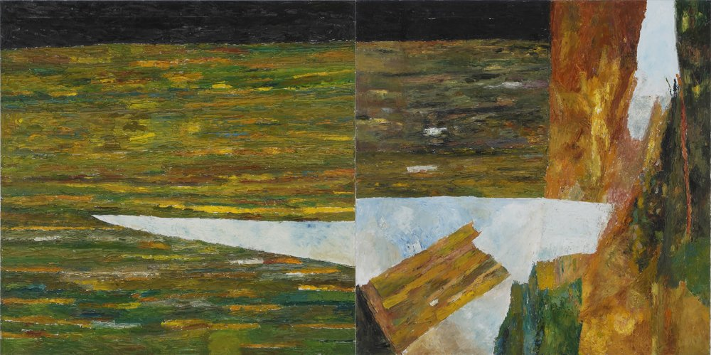 "Untitled | Oil on canvas | 36"" x 72"" 