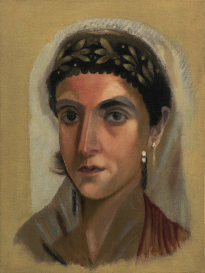 "Untitled - IV (Egyptian Girlfriend) | Oil on canvas | 24"" x 18"" 