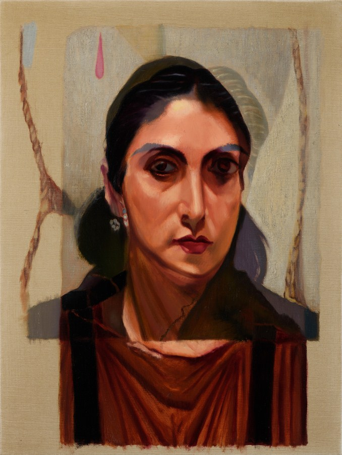 "Untitled - VII (Egyptian Girlfriend) | Oil on canvas | 24"" x 18"" 