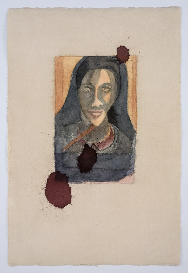 "Untitled - IV (Santiniketan Girlfriend) | Watercolour on paper | 22.5"" x 15"" 