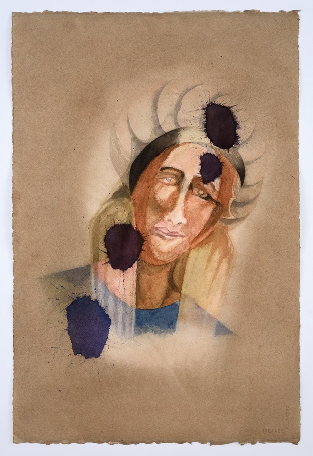 "Untitled - V (Santiniketan Girlfriend) | Watercolour on paper | 22.5"" x 15"" 