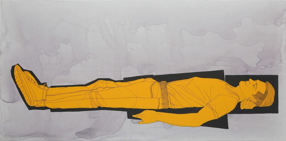 "Praneet Soi | Victor Sebastian | Acrylic on canvas | 39.5"" x 78.5"" | 2016"