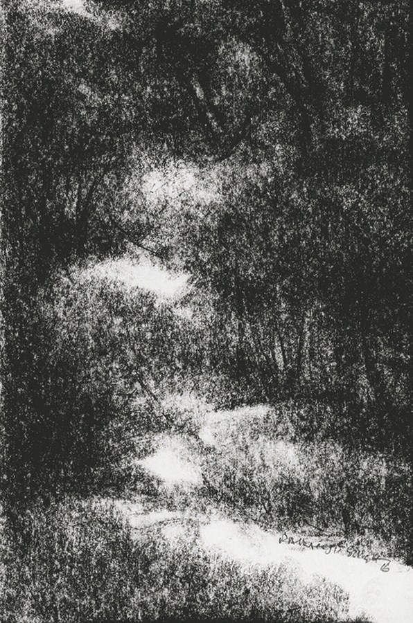 "Untitled | Charcoal crayons on paper | 10"" x 6"" 
