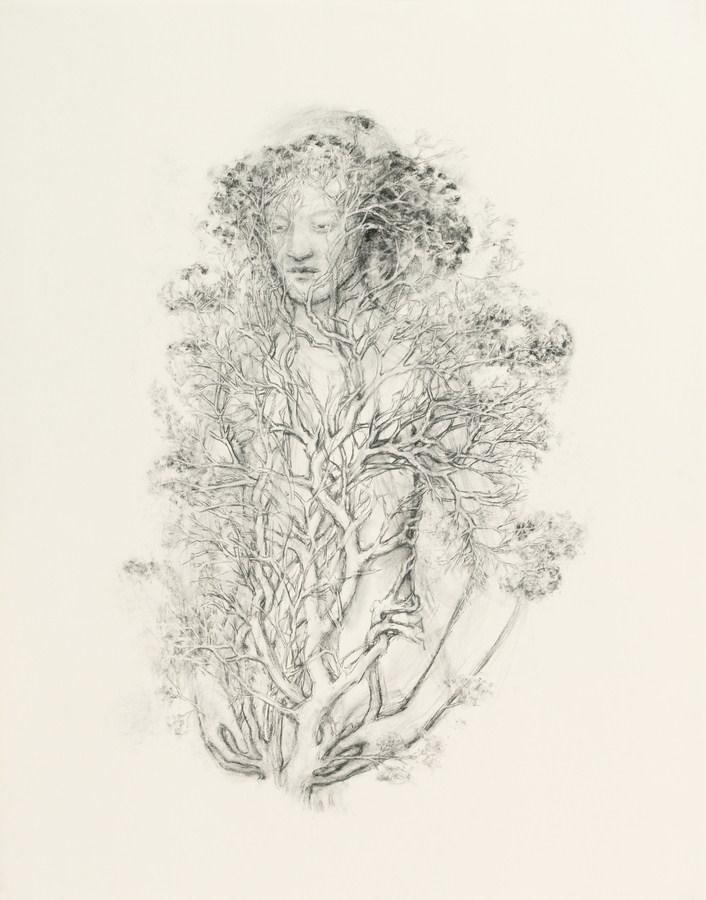 "Juul Kraijer| Untitled | Charcoal on paper | 50"" x 39.5"" | 2012"