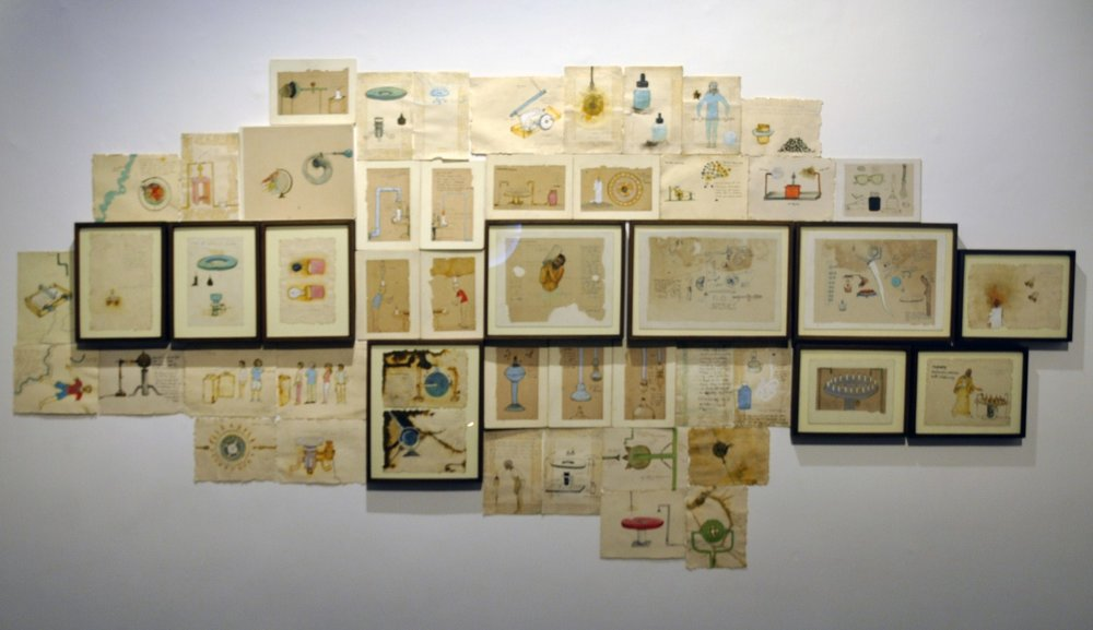 Untitled (Set of 48 Drawings) | Mixed media on old paper | Variable | 2016