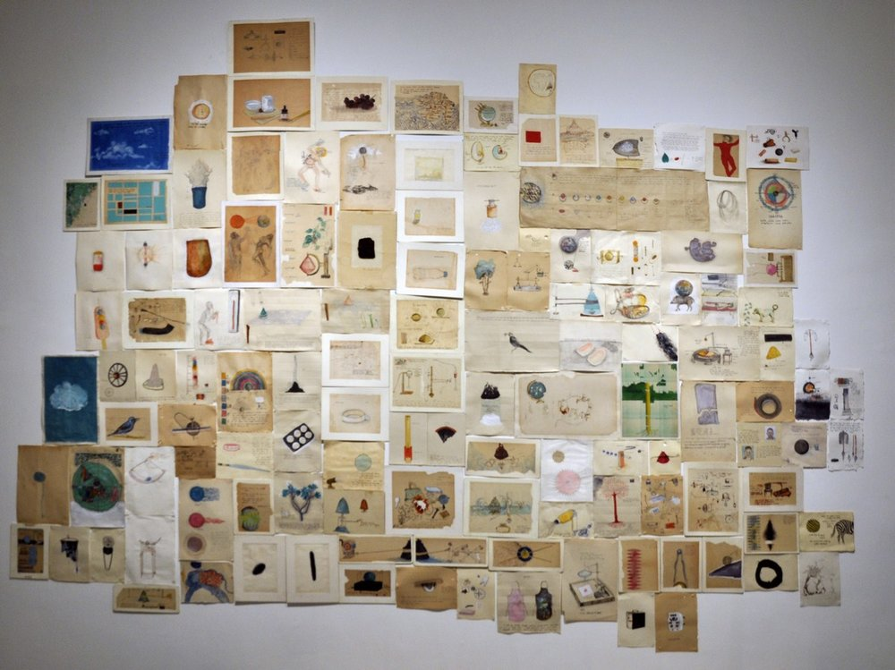 Untitled (Set of 130 Drawings) | Mixed media on old paper | Variable | 2016 – 2017