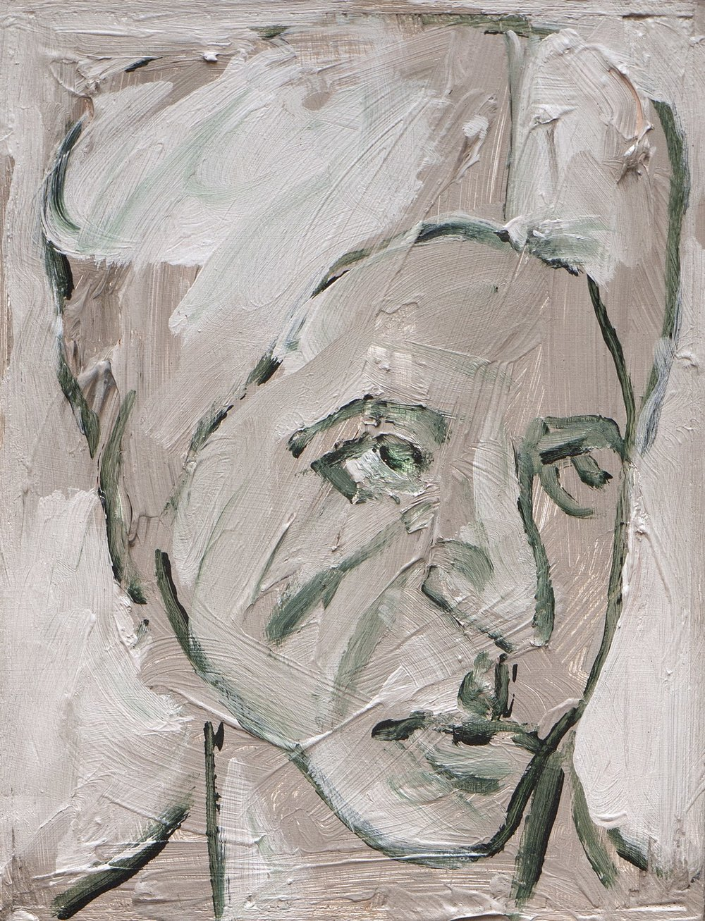 "People Series | Acrylic on plywood | 8"" x 6"" 