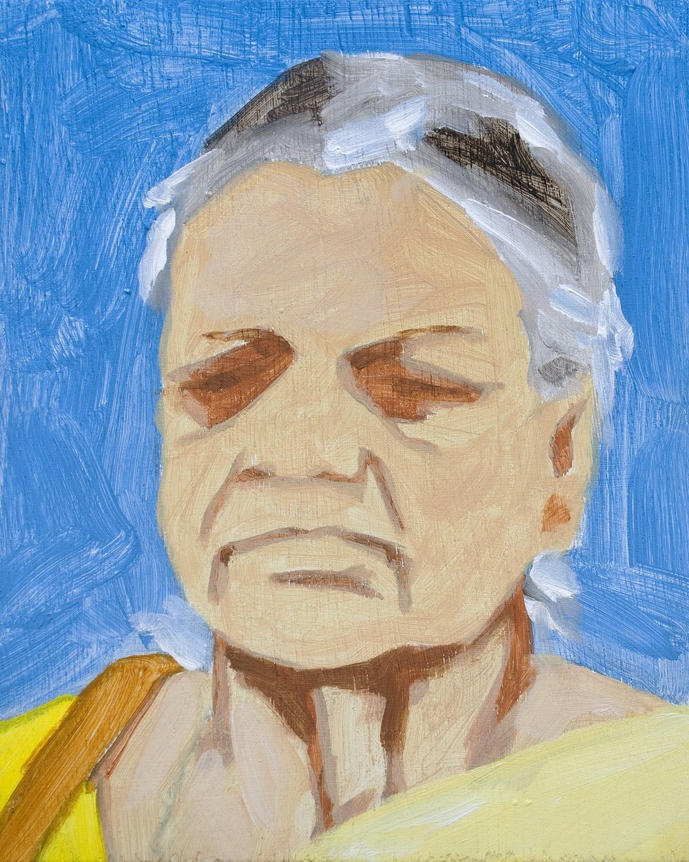 "People Series | Acrylic on plywood | 10"" x 8"" 
