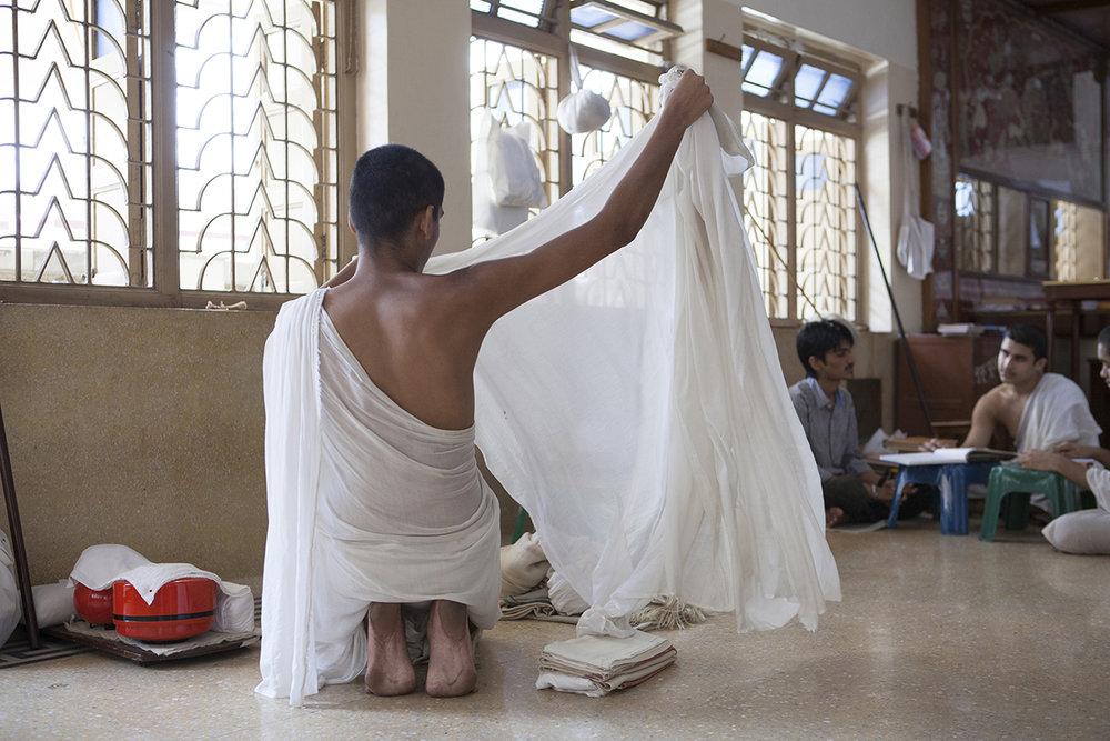 "Swetamber Jain Monks, monsoon season 1 Kolkata | Archival Pigment Ink on Hahnemühle FineArt Photo Rag Paper | 28"" x 42"" | 2015"