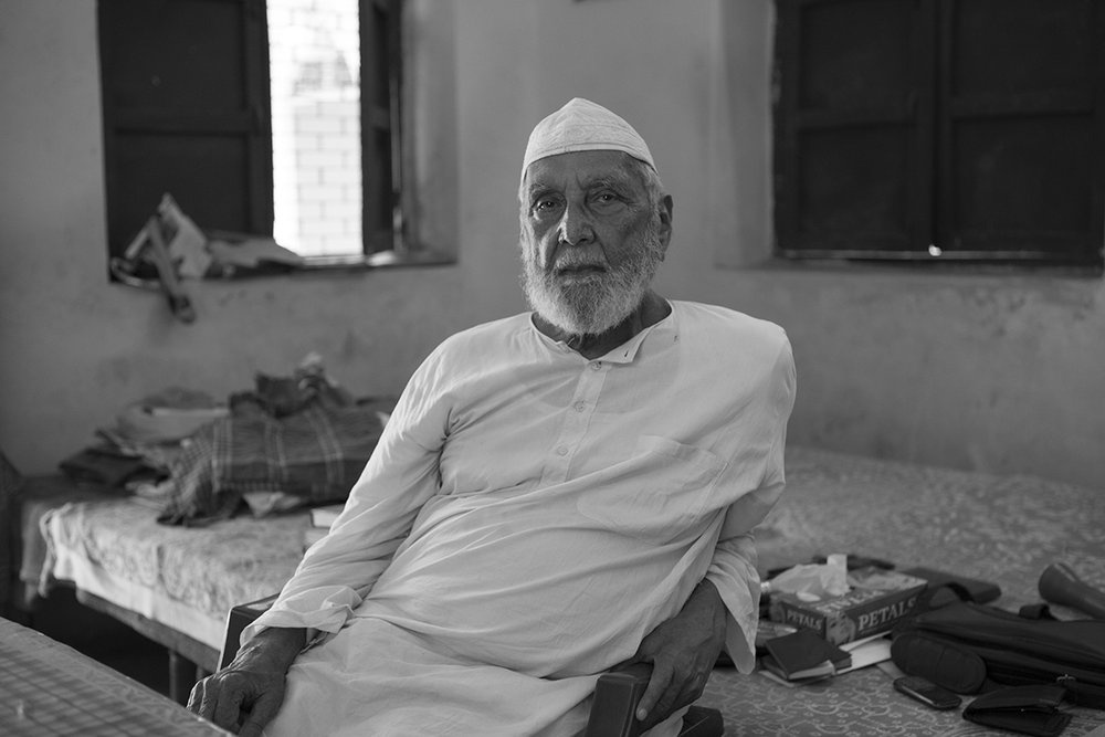 "Maulana Jalaluddin Abdul Mateen in his room,  Farangi Mahal Residence, Lucknow | Archival Pigment Ink on Hahnemühle FineArt Photo Rag Paper | 11"" x 16.5"" 