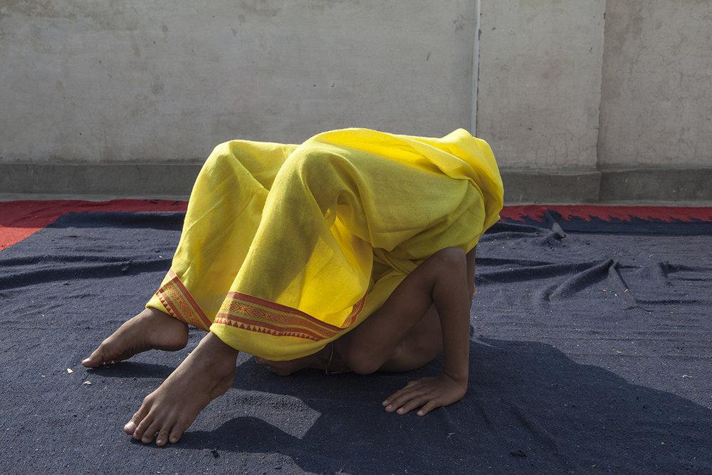 "Ashtanga Yoga Student International Chandramauli Charitable Trust, Varanasi | Archival Pigment Ink on Hahnemühle FineArt Photo Rag Paper | 11"" x 16.5"" | 2016"