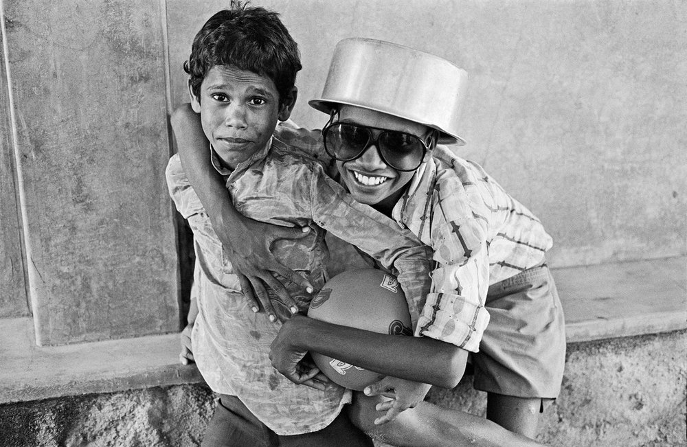 "Selva and Ramesh Bombay 1987 | Archival pigment print | 24"" x 35"""