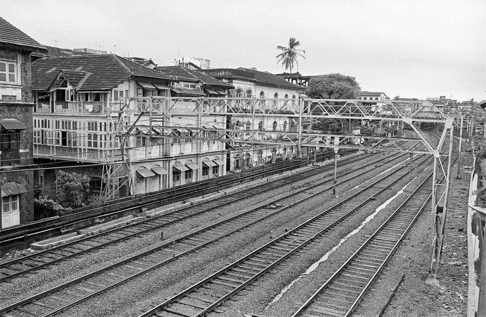 "Grant Road Railway Tracks Mumbai 1980 | Archival pigment print | 16"" x 23"""