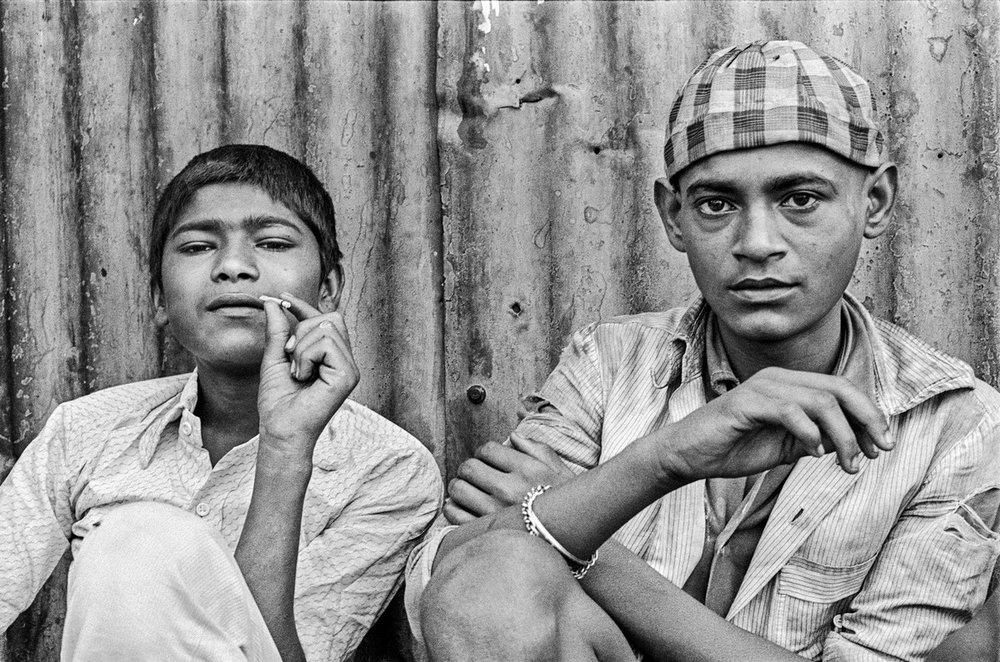 "Salim and Tukloo Bombay 1986 | Archival pigment print | 41"" x 61"""