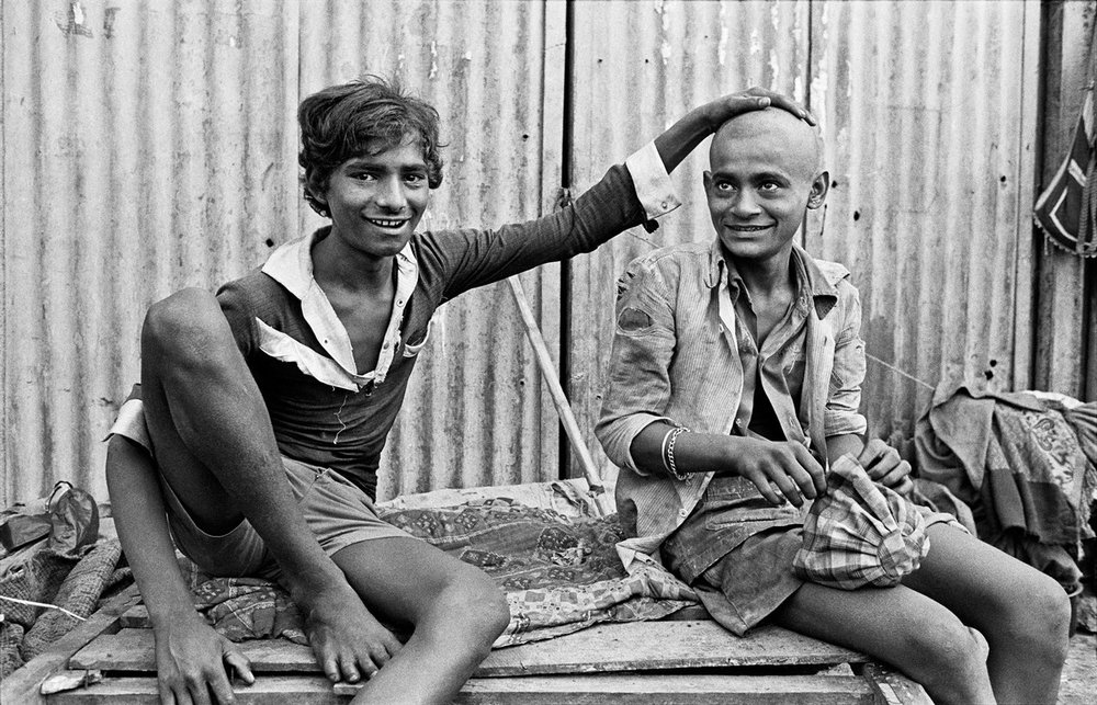 "The real Chaipau and Tukloo Bombay 1987 | Archival pigment print | 16"" x 23"""