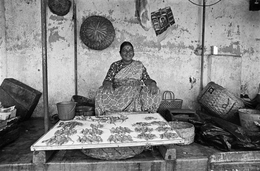 "Koli Fisherwoman Bombay 1977 | Archival pigment print | 24"" x 35"""