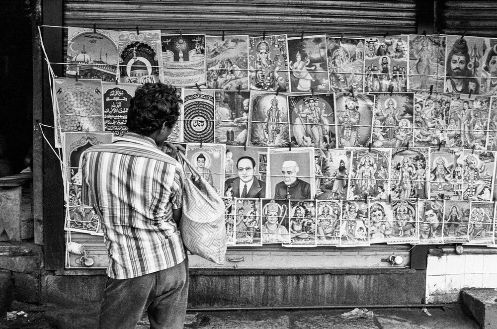 "Portraits for sale Bombay 1986 | Archival pigment print | 24"" x 35"""