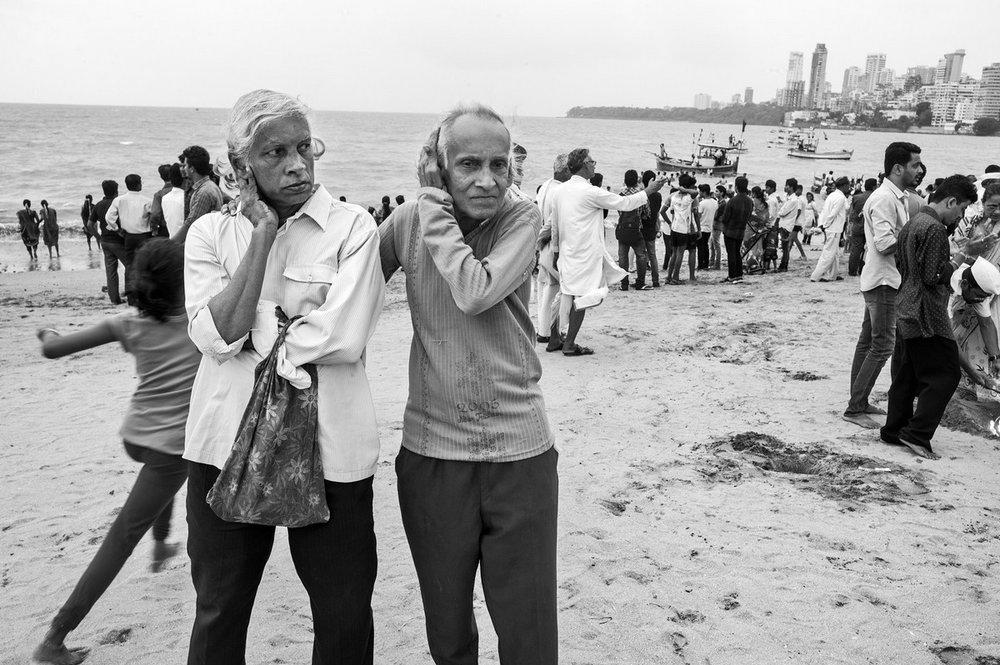 "Companions, Chowpatty Beach Mumbai 2016 | Archival pigment print | 24"" x 35"""