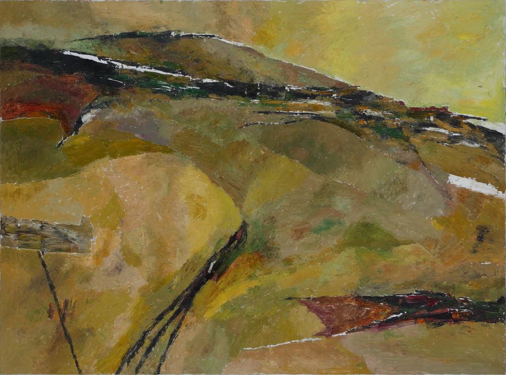"Ram Kumar | Untitled | Oil on canvas | 36"" x 48"" | 2013"