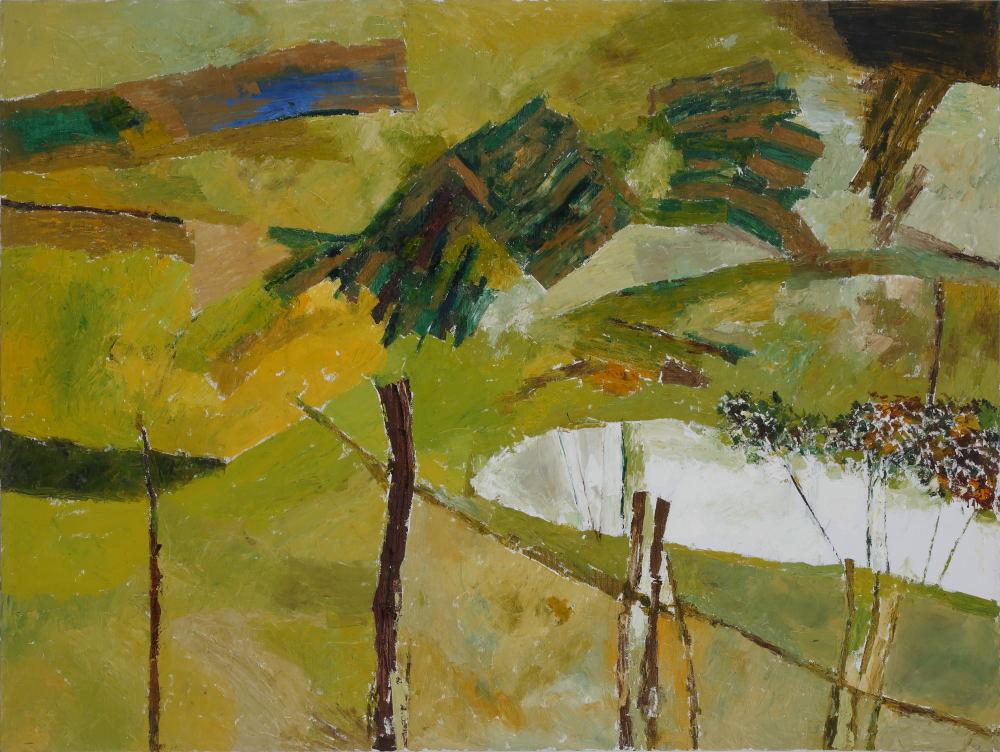 "Ram Kumar  | Untitled | Oil on canvas | 36"" x 48"" | 2014"