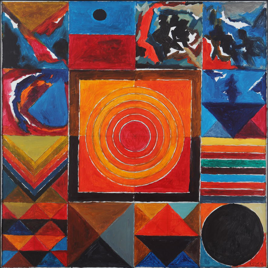 "S.H. Raza | Memory | Acrylic on canvas | 39.5"" x 39.5"" 