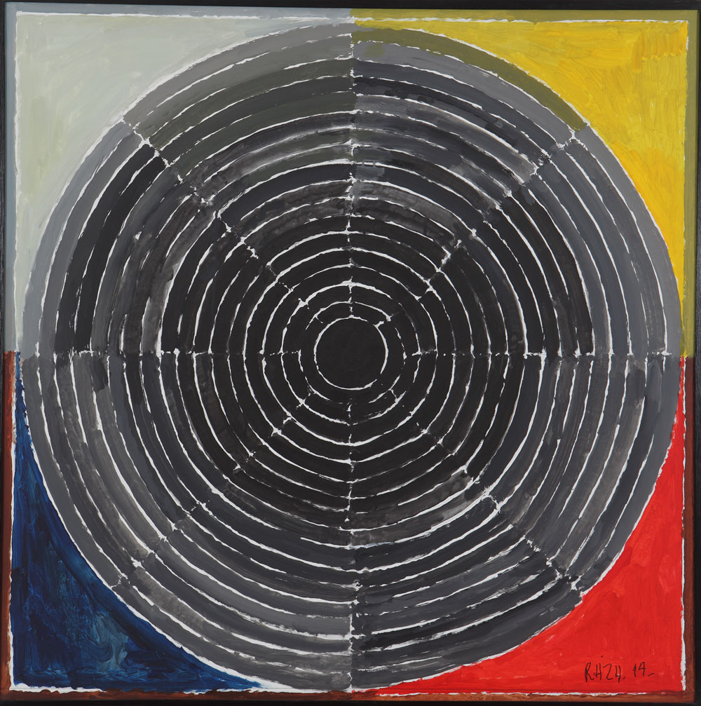 "S.H. Raza | Bindu Sakriya | Acrylic on canvas | 39.5"" x 39.5"" 