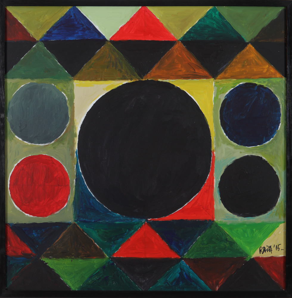 "S.H. Raza | Chaturdik | Acrylic on canvas | 23.5"" x 23.5"" 