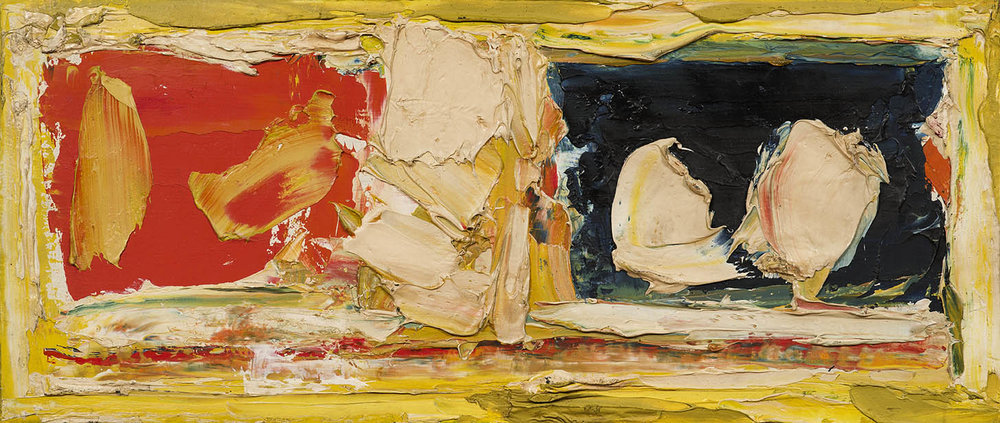 "S.H. Raza | Untitled | Oil on board | 7.5"" x 17.5"" 