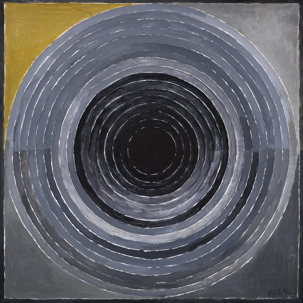 "S.H. Raza | Sanlaap | Acrylic on canvas | 39.5"" x 39.5""  | 2015"