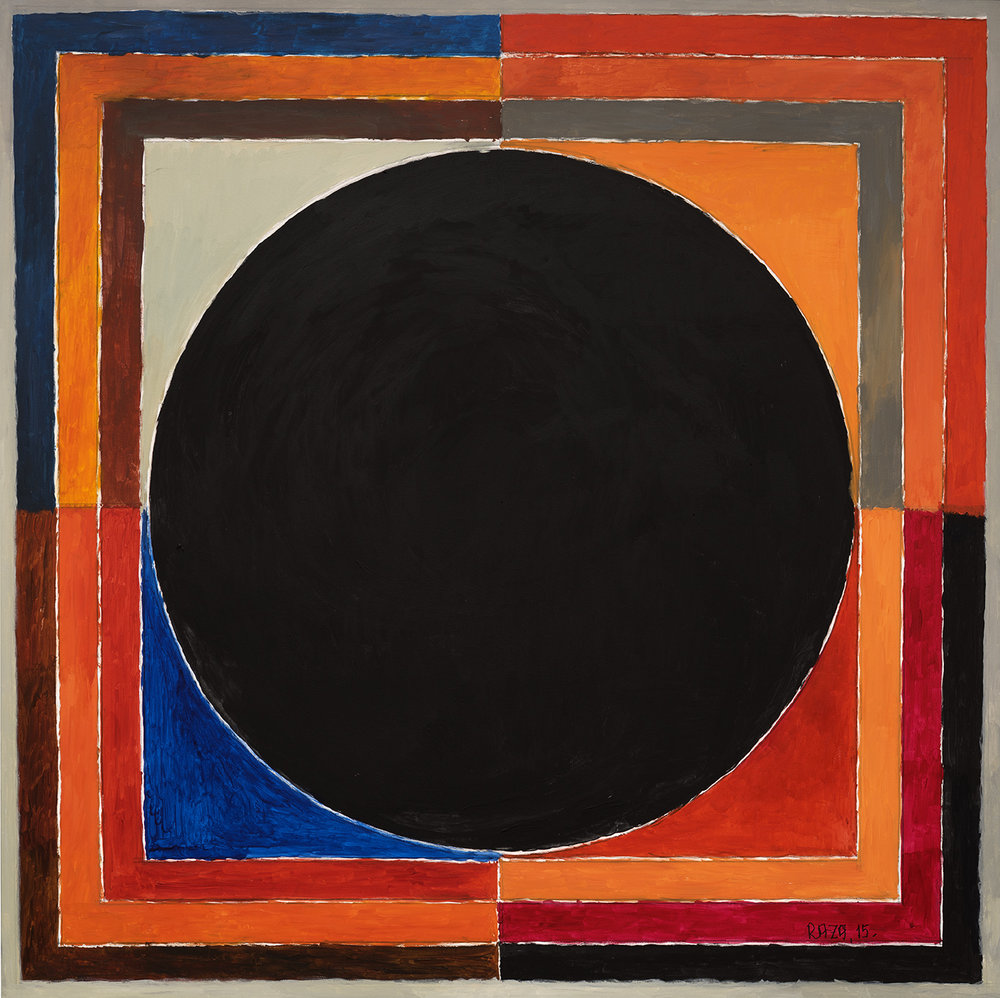 "S.H. Raza | Prayas | Acrylic on canvas | 47"" x 47"" | 2015"