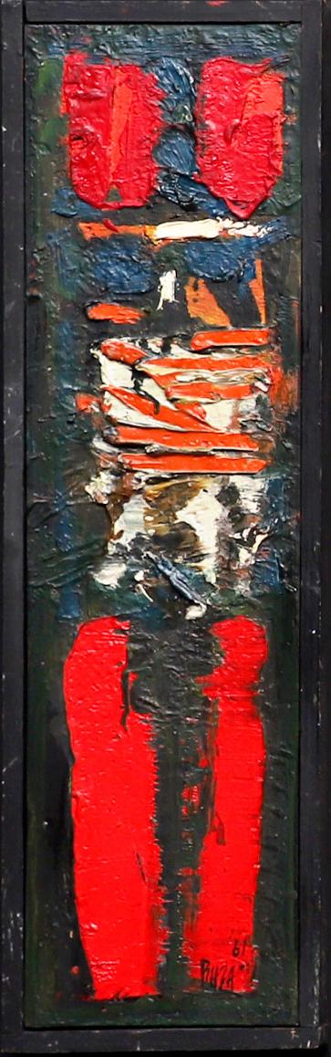 "S.H. Raza | Untitled | Oil on board | 20"" x 5.5"" | 1961"