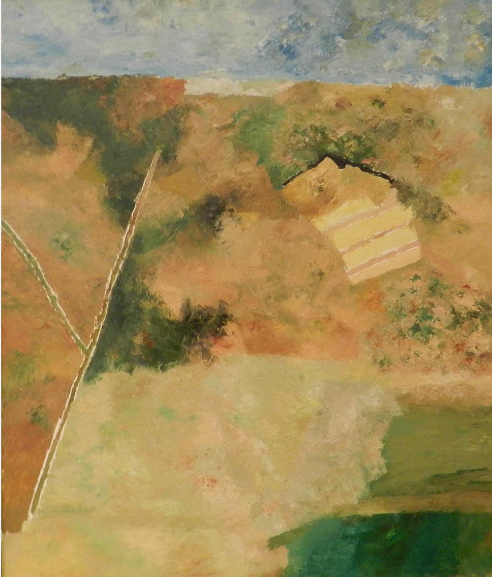 "Ram Kumar | Untitled  | Oil on canvas  | 36"" x 30""  | 2006"