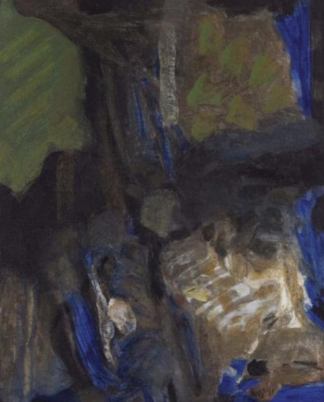 "S.H. Raza | Ravin  | Acrylic on canvas  | 16"" x 13""  | 1968"