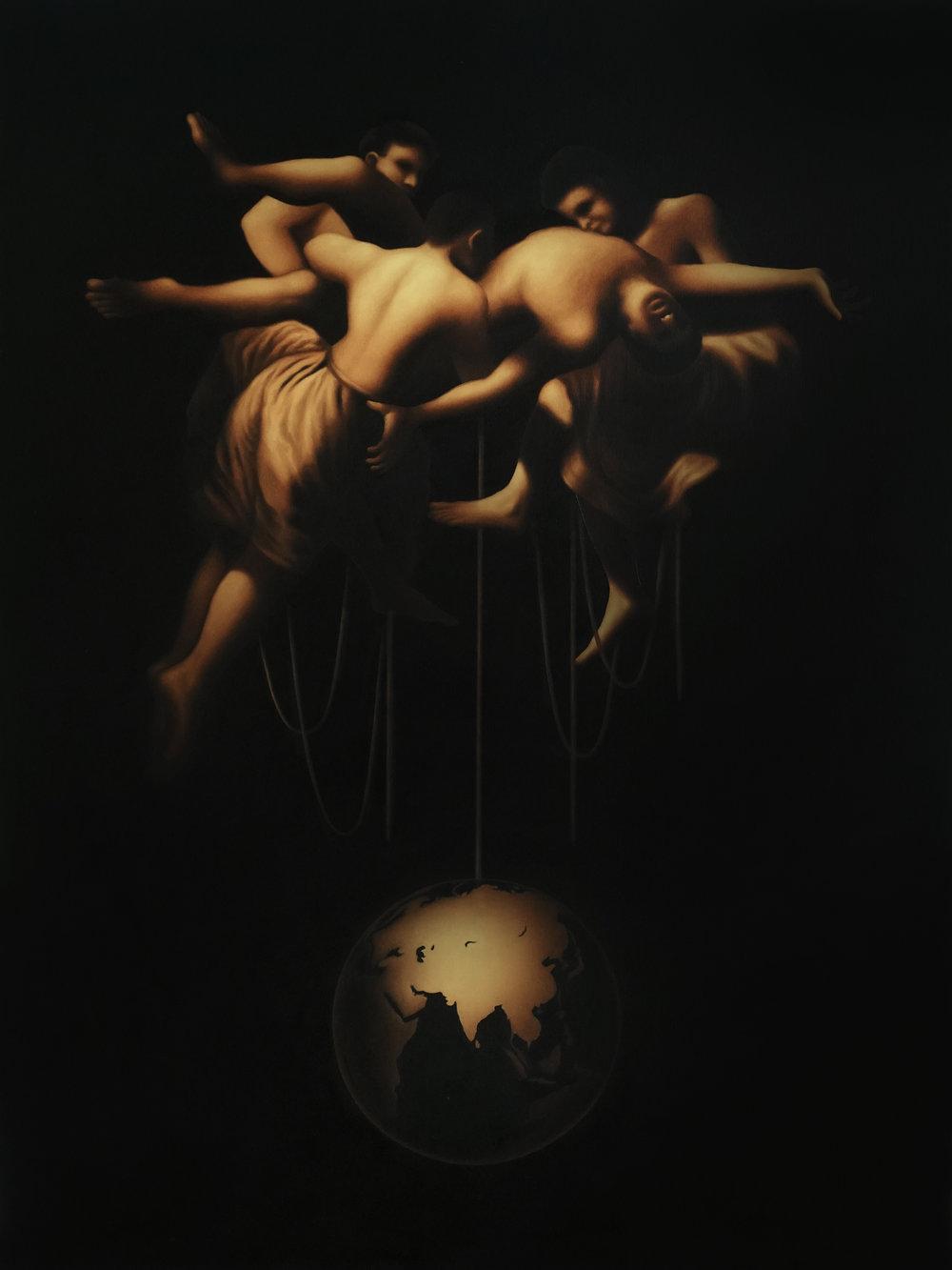 """Homage to Francesco Goya   Oil On canvas   48"""" x 36""""    2018"""