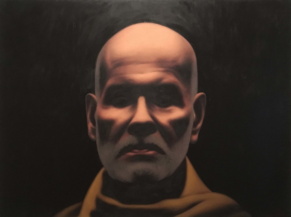 "Guru   Oil on canvas   48"" x 36""   2018"