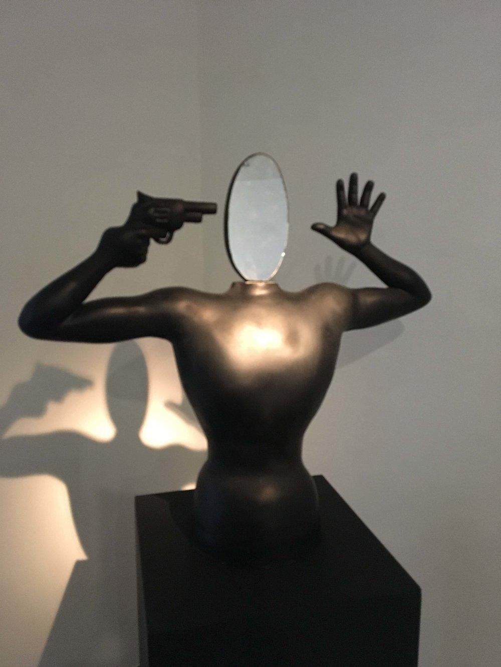 "Atmopadesasatakam - III | Fiberglas and mirror | 30.5"" x 32"" x 8"" | 2018"